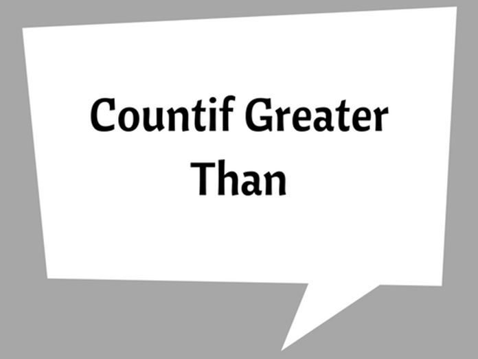 how to find greater than and less than in excel