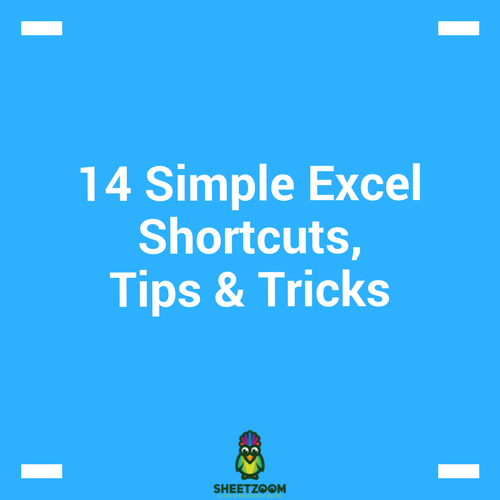 14 Simple Excel Shortcuts, Tips & Tricks