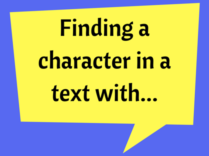 Finding a character in a text with FIND function