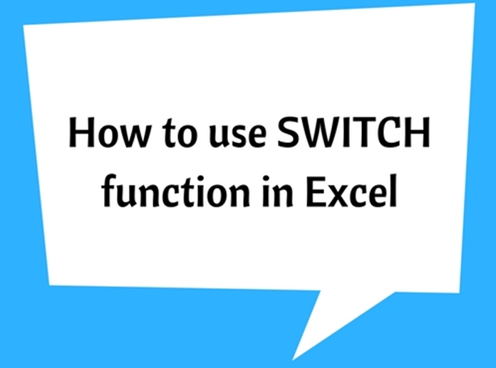 SWITCH function in Excel