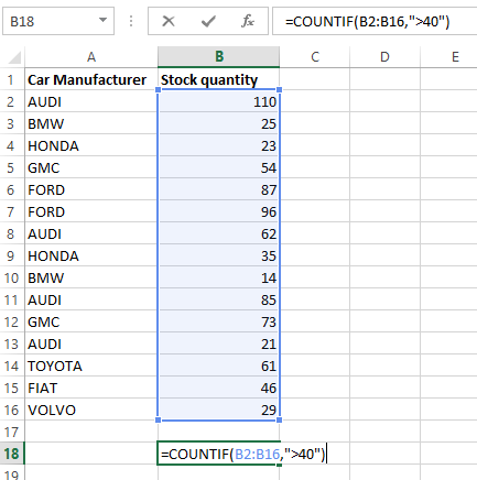 countif excel