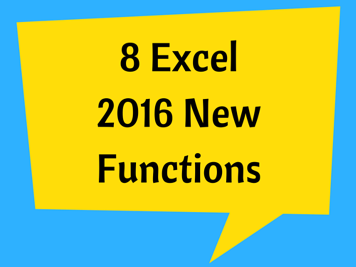 Excel New Functions