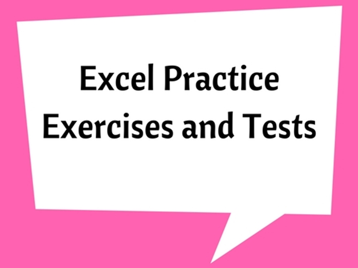 Excel Practice Exercises and Tests