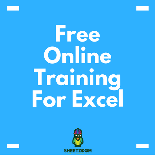 Free Online Training For Excel - Sheetzoom Excel Tutorials