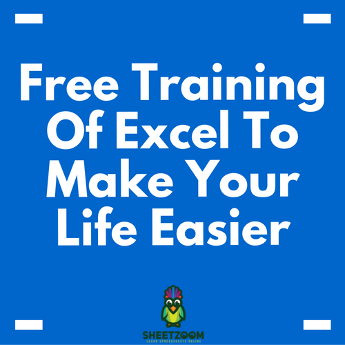 Free Training Of Excel To Make Your Life Easier