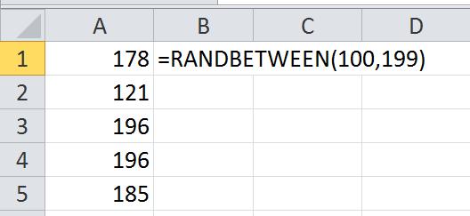 how to create random data numbers in excel