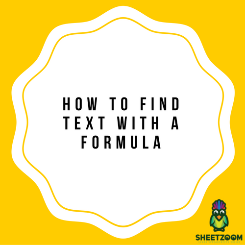 How To Find Text With A Formula