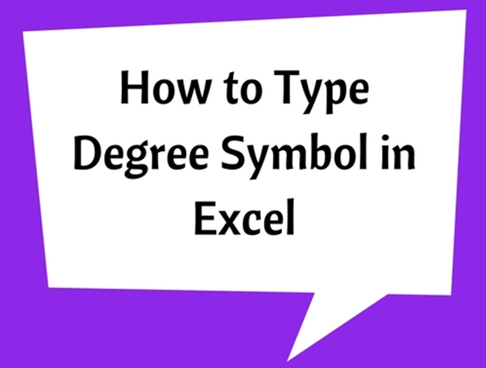 Degree Symbol in Excel