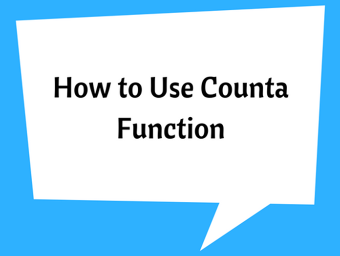 How to Use Counta Function