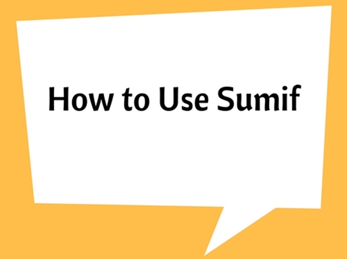 How to Use Sumif