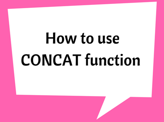 How to use CONCAT function