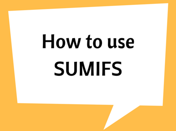 How to use SUMIFS (Multiple Criteria)
