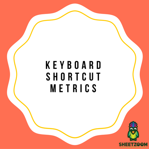 Keyboard Shortcut Metrics