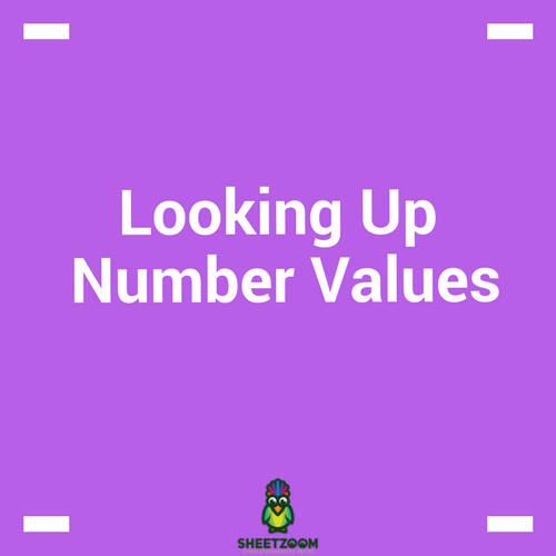 Looking Up Number Values