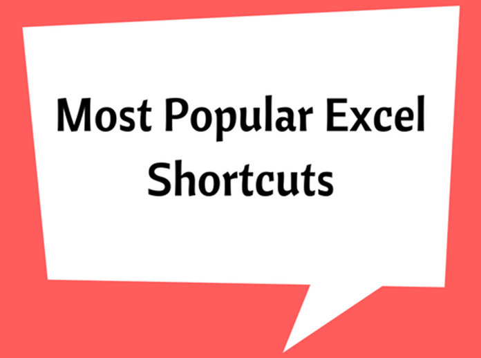 Most Popular Excel Shortcuts