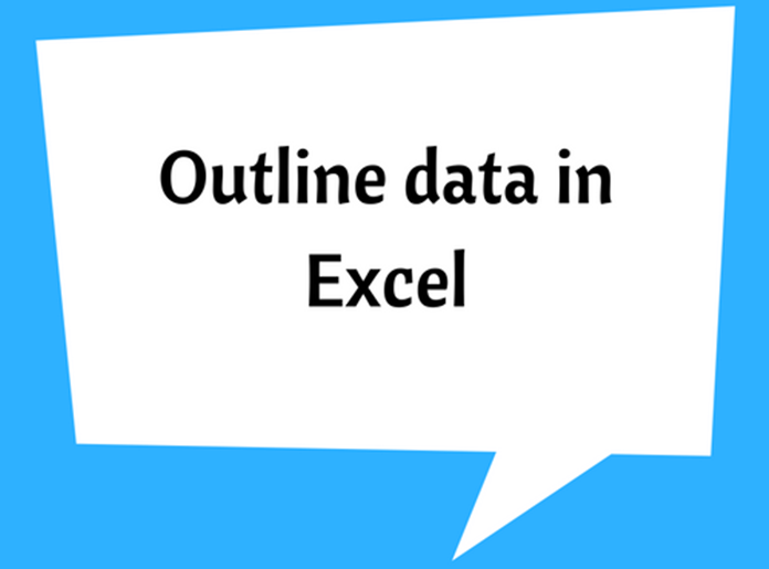 Outline data in Excel