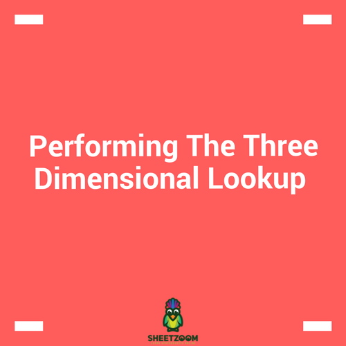 Performing The Three Dimensional Lookup