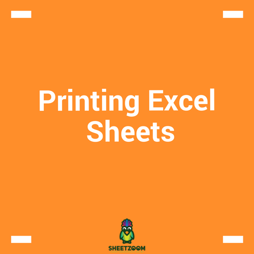 Printing Excel Sheets