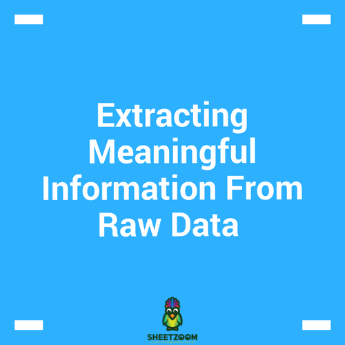 Extracting Meaningful Information From Raw Data – An Example Of Using Sales Data To Get Meaningful Insights