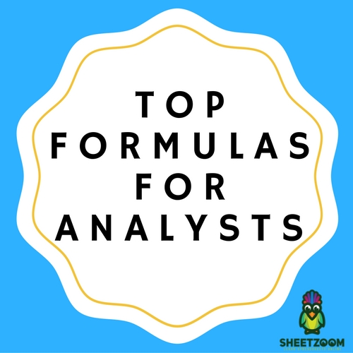 Top Formulas for Analysts