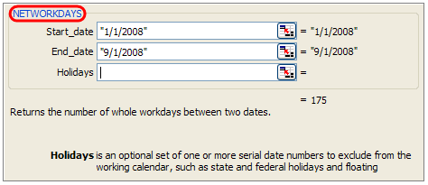 NETWORKDAYS formula tells us the number of working days between a start and end date