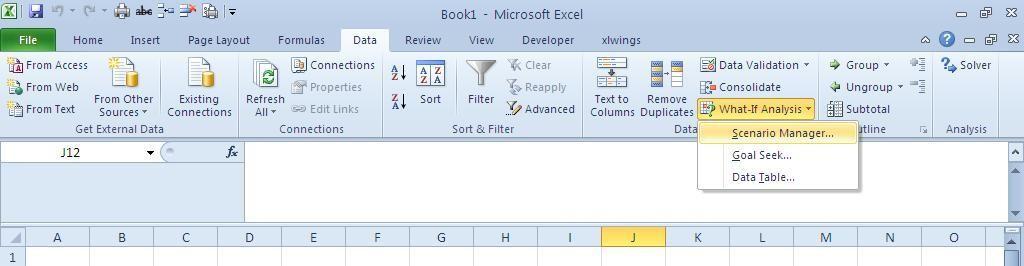 Understanding Scenario Manager - Sheetzoom Excel Tutorials
