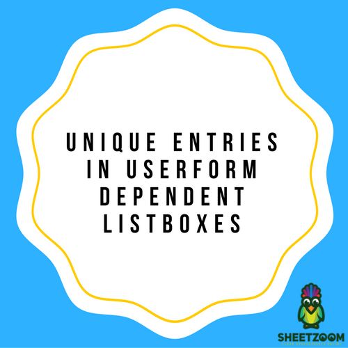 Unique Entries in Userform Dependent Listboxes