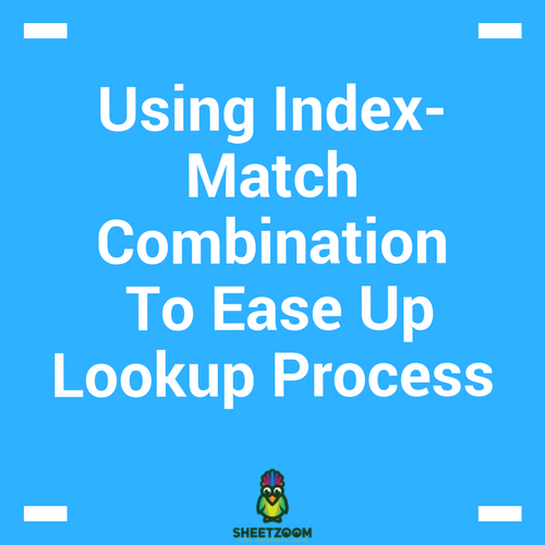 Using Index-Match Combination To Ease Up Lookup Process