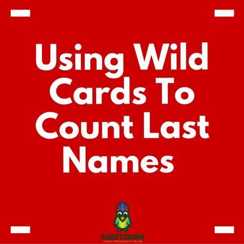 Using Wild Cards To Count Last Names – A Quick Tutorial