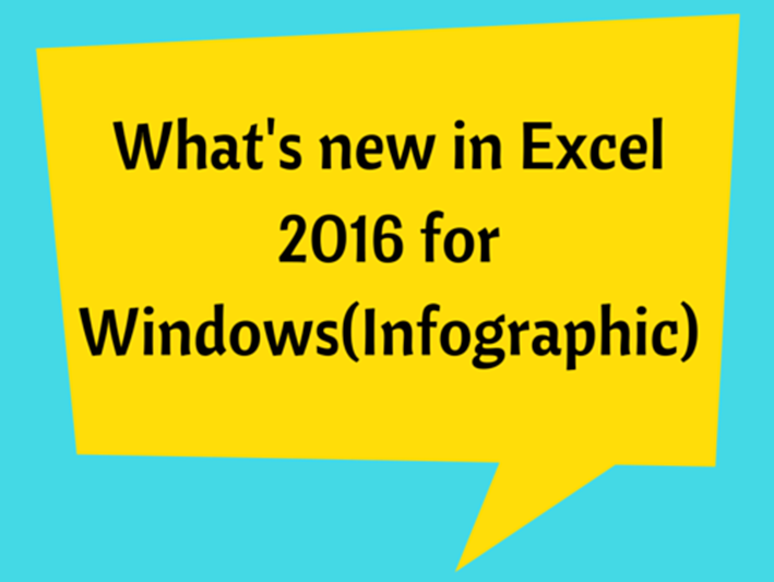 what s new in excel 2016 for windows infographic sheetzoom excel