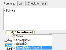 sales amount