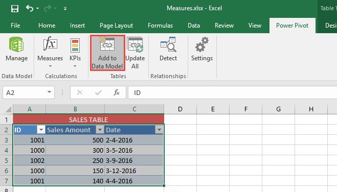 Using Measures Power Pivot - Sheetzoom Excel Tutorials